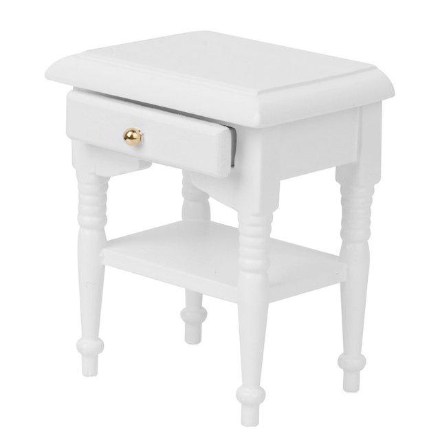 Us 313 13 Off112 2x Pop Bed Kast Miniatuur Modellen Meubels Woondecoratie Wit Hout In 112 2x Pop Bed Kast Miniatuur Modellen Meubels