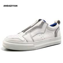 Sapatos de couro branco versão Coreana do selvagem sapatos de tabuleiro moda um pé maré sapatos masculinos da marca