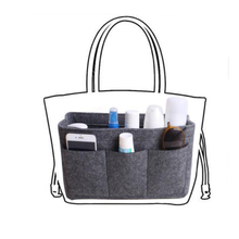 GFZXCAN brand new ladies felt cosmetic bag inner bag Obag suitable for handbags multi-pocket daily necessities Cosmetic bag