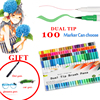 12 24 36 48 60 100 Colorful Bursh Fineliner Pen For Drawing Painting Highlighter Dual Tip