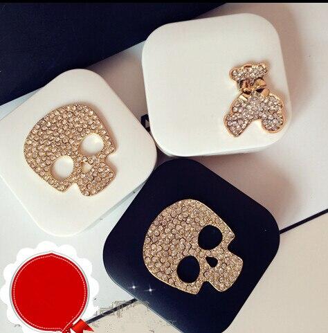 LIUSVENTINA DIY-legering Diamant SCHEDEL en draag contactlenskoker - Kledingaccessoires