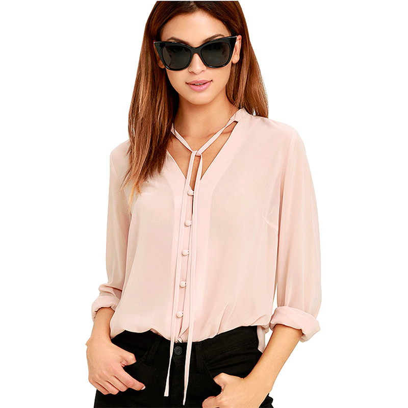 Women's Clothing 2019 Blouse Women Summer Aliexpress Explosion Models Europe Long-sleeved V-neck Zipper Chest Loose Chiffon Shirt Eff6190 Fast Color