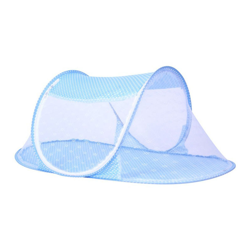 Dot Ship type Foldable Toddler Kids Infant Baby Safty Mosquito Net Netting Crib Bed Playpen Play Tent Blue 68 35 40cm in Mosquito Net from Home Garden