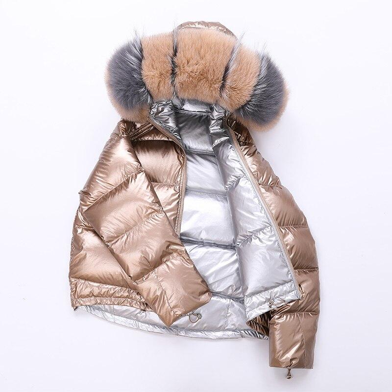 2019 New Winter Large Fur Collar Parka   Coat   Female Fashion Jackets Women   Down   Jacket Warm Winter Jacket Women LP422