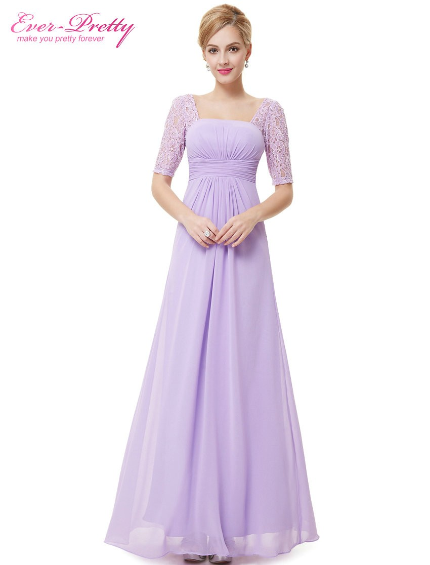 Long Lace Evening Dress