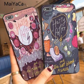 MaiYaCa Harry Potter Comics Customer Custom Photo Soft Phone Case For Apple iphone 5 5s 5c SE And 6s 7 8 Phone case