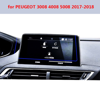 For Peugeot 3008 5008 3008GT 4008 2017-2018 Steel Screen Protective Film Car GPS LCD Navigation Tempered Glass Screen Protector image