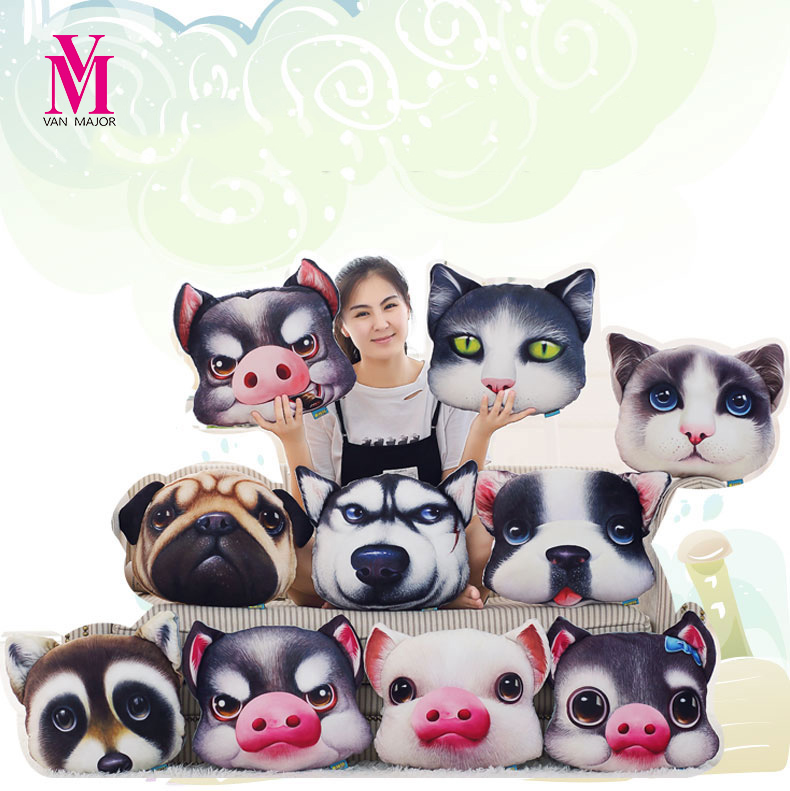 40cm3D Simulation Of A Cat Plush Toy Animal Fox Sleeping Pillow Office Furniture As A Gift For My Friend