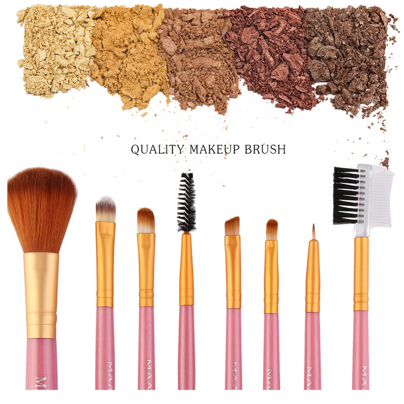 2019 Hot 8pcs Professional Makeup Brushes Blusher Eye Shadow Brushes Set Kit Tools Cosmetic Pincel pinceaux Maquiagem in Eye Shadow Applicator from Beauty Health