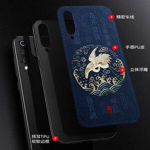 Image 2 - Aixuan Deri Xiao mi mi 9 telefon kılıfı 3D KABARTMA Desenli Deri Silikon arka kapak kılıfları için xiaomi mi mi 9 mi 9 SE Çapa