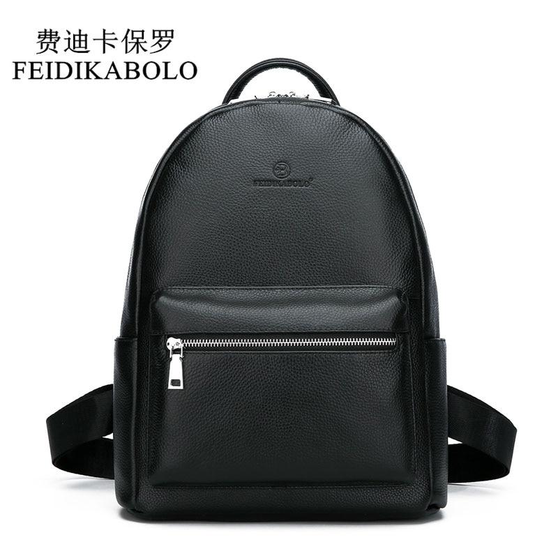Bagaj ve Çantalar'ten Sırt Çantaları'de FEIDIKABOLO hakiki deri sırt çantası erkekler Laptop sırt çantası okul gençlik deri gençler için sırt çantaları erkekler rahat Daypacks mochila'da  Grup 1