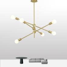 Modern pendant lights led North America stylemetal double ended living room fashionable multi head glass decor lamp