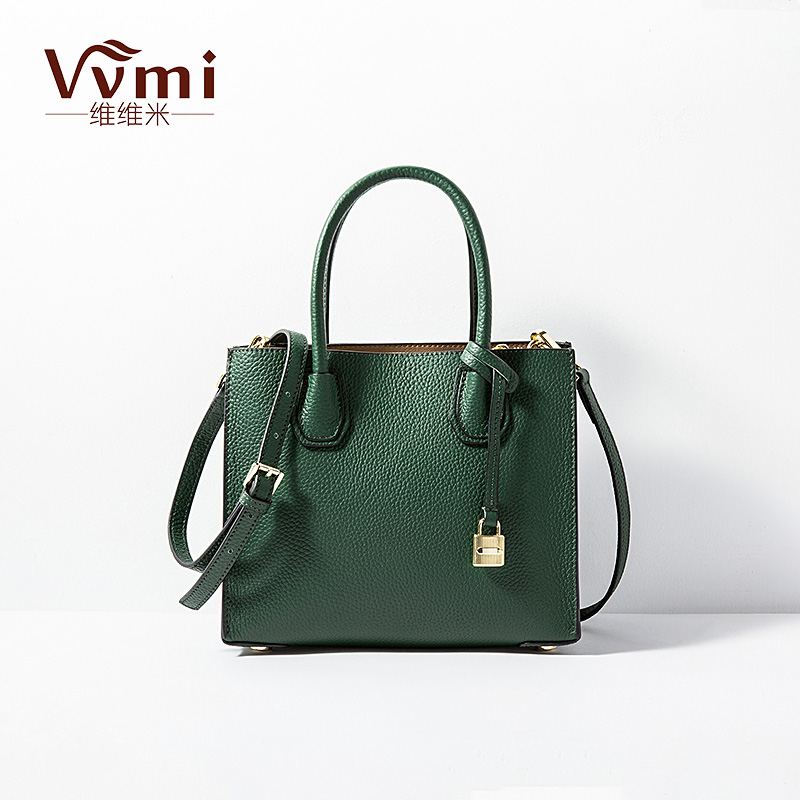 ФОТО Vvmi 2016 new women handbags genuine leather bags chic small square totes lock single shoulder bags for female brand designer