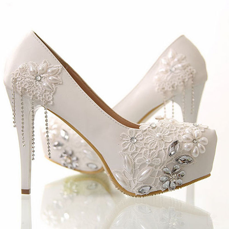 Lace Shoe Wedding Dress