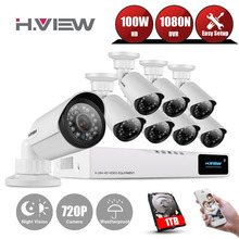 8CH CCTV System HDMI 720P NVR CCTV Security Camera System 8 PCS IR Outdoor Video Waterproof Surveillance Camera KitS With 1TDisk