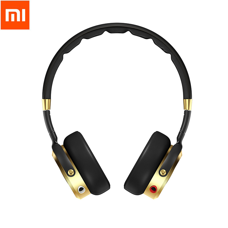 Newest Black Champagne Gold Original Xiaomi Headset Mi HiFi Stereo Headphone with Mic Foldable 3 5mm