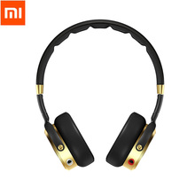 Newest Black+Champagne Gold Original Xiaomi Headset Mi HiFi Stereo Headphone with Mic Foldable 3.5mm Music Earphone Microphone