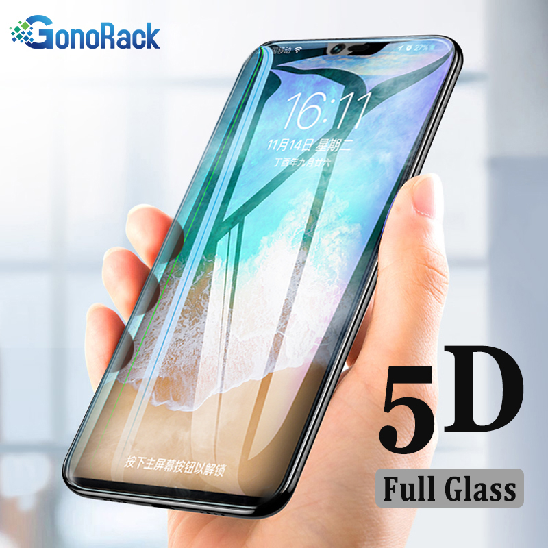 GonoRack 5D Edge Glass for oppo Realme 2 A3S A5 Tempered Glass Screen Protector for OPPO F1S F3 F5 F7 F9 Realme2 Protective Film