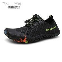купить Aqua Shoes Water Shoes For Men Women Beach Breathable Swimming Quick Dry Outdoor Gym Upstream Sea Shoes Flat Sneakers Men Socks дешево