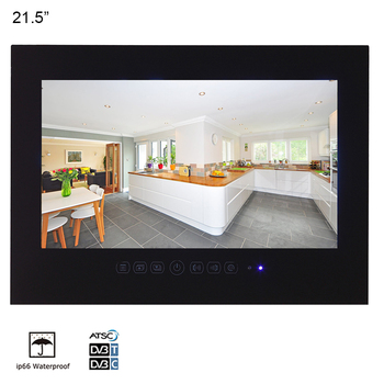 Souria 21.5 inch Bathroom Waterproof Hotel Luxury 1080P LED TV Videos Entertainment (White/Black)