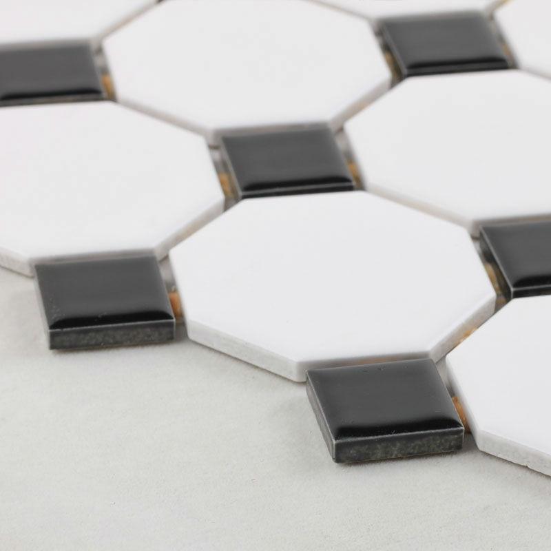FREE Shipping Mosaic Tiles Sheet Black White Octagon Glazed Porcelain Tile  Backsplash Slip Bathroom Floor Tile Ceramic Designs On Aliexpress.com |  Alibaba ... Part 83