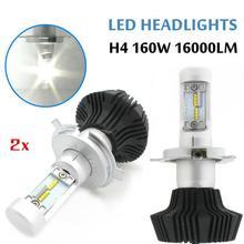 Один Год Гарантии G7 LED H4 50 Вт 6500 К 8000LM СВЕТОДИОДНЫЕ Фары Автомобиля Комплект Лампы
