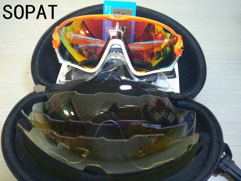 HTB1ajdbQXXXXXbvXpXXq6xXFXXXE - 2018 4 Lens Mountain Velo Goggles Polarized Jaw Breaker Sunglasses Men Women MTB sopat Eyewear JBR Sun Glasses with Myopia Frame