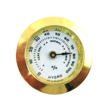 MUXIANG Round Glass Analog Hygrometer Cigar Humidor for Ciga