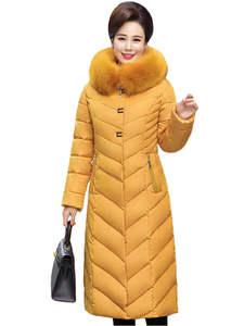 436a0a38cdb0 MLinina Coat Winter Down Jacket Women Long Parkas Hooded