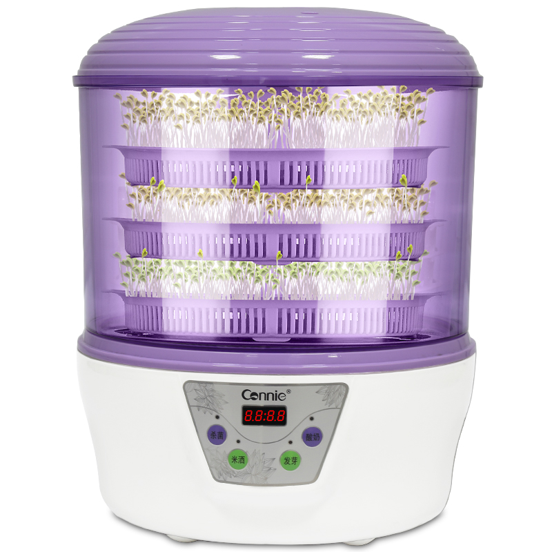 Double layer bean sprouts machine automatic household large capacity multifunctional yogurt rice wine maker commercial bear three layers of bean sprouts machine intelligent bean sprout tooth machine dyj b03t1