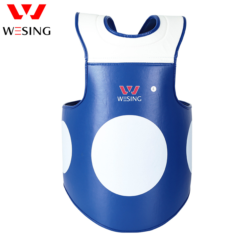 WESING Boxing Chest Guard Micro Fiber Body Shield for Training Compition Comfortable Flexible PU Chest Protector 1305