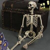 Posable Skeleton Halloween Decor Scary Man Bone Creepy Prop Party Decoration DIY