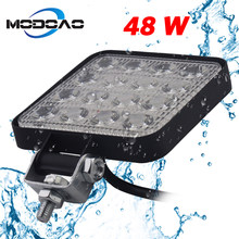 1pcs 2pcs 18W 48W 72W Offroad Car 4WD Truck Tractor Boat Trailer 4x4 SUV ATV 12-48V Spot Flood LED Light Bar LED Work Light(China)