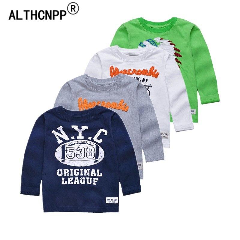 2-6T Children T-shirt Boys Clothes Baby Boys Tops & Tees 100% Cotton Kids T Shirt Kids Long Sleeve Sweatshirt Boys T Shirts