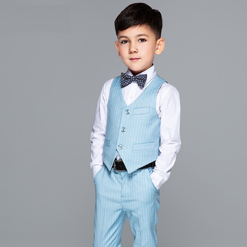 Top quality Baby suit set child suit jacket formal dress suit male child costume free shipping 5pcs per set/4ps per set ...