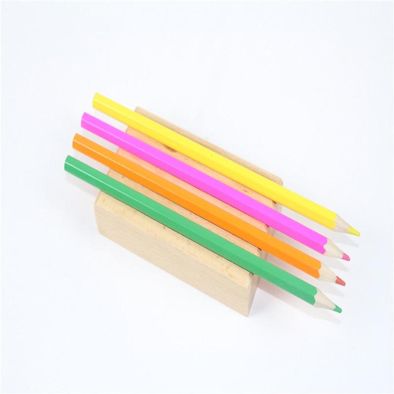 Baby Toy Montessori Pencil Holder Wood Early Childhood Preschool Kids Brinquedos Juguetes