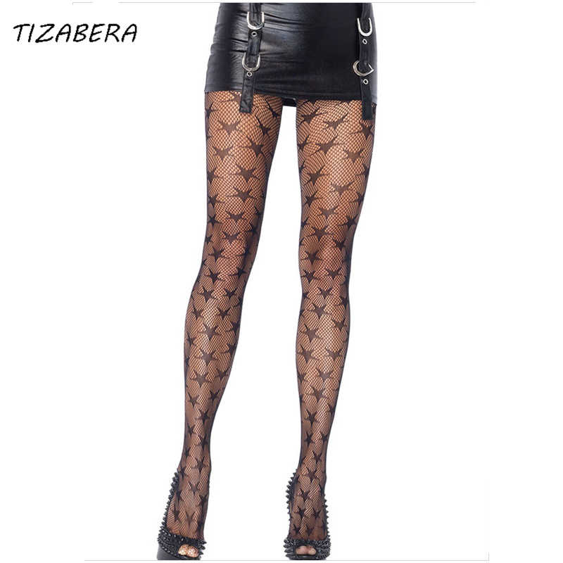 4b5f20f7714bb Women Sexy Stockings Tights Fishnet Pantyhose Plus Size Female Stars Mesh  Hollow Sexy Lingerie Babydolls Street
