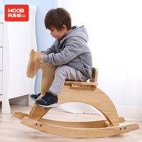 Твердая деревянная лошадка качалка, ребенок, детская игрушка Троян, детская лошадка качалка подарок на день рождения От 1 до 6 лет