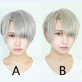 New Arrival YURI!!! on ICE Yuri On Ice Victor Nikiforov Gray Mixed High Quality Cosplay Wig Heat Resistant Hair Wigs