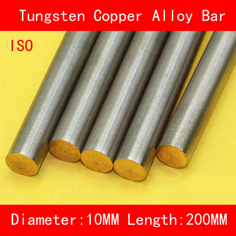 Diameter 10mm Length 200mm Tungsten Copper Alloy Bar W80Cu20 W80 Tungsten Bar Spot ISO Certificate 4 100 100 tungsten copper alloy sheet w80cu20 w80 plate spot welding electrode packaging material iso certificate free shipping