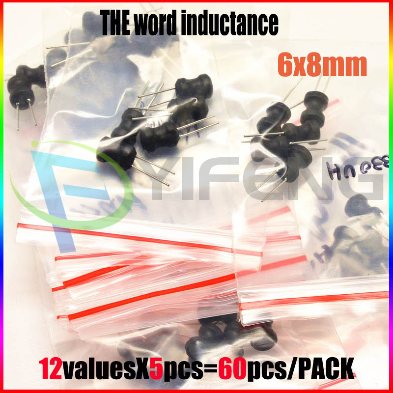 New! Word inductance package 6 * 8 full range of high-quality power inductors 12 kinds each 5PCS Total 60PCS