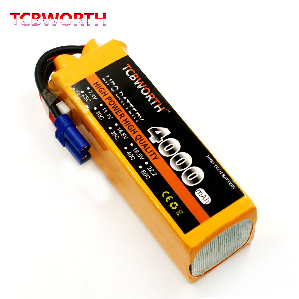 TCBWORTH 6S 22.2V 4000mAh 30C RC Airplane LiPo battery For RC Helicopter Quadrotor Car boat Drone Truck Li-ion batteria tcbworth rc lipo airplane battery 2s 7 4v 4000mah 30c for rc helicopter quadrotor drone car boat truck li ion batteria