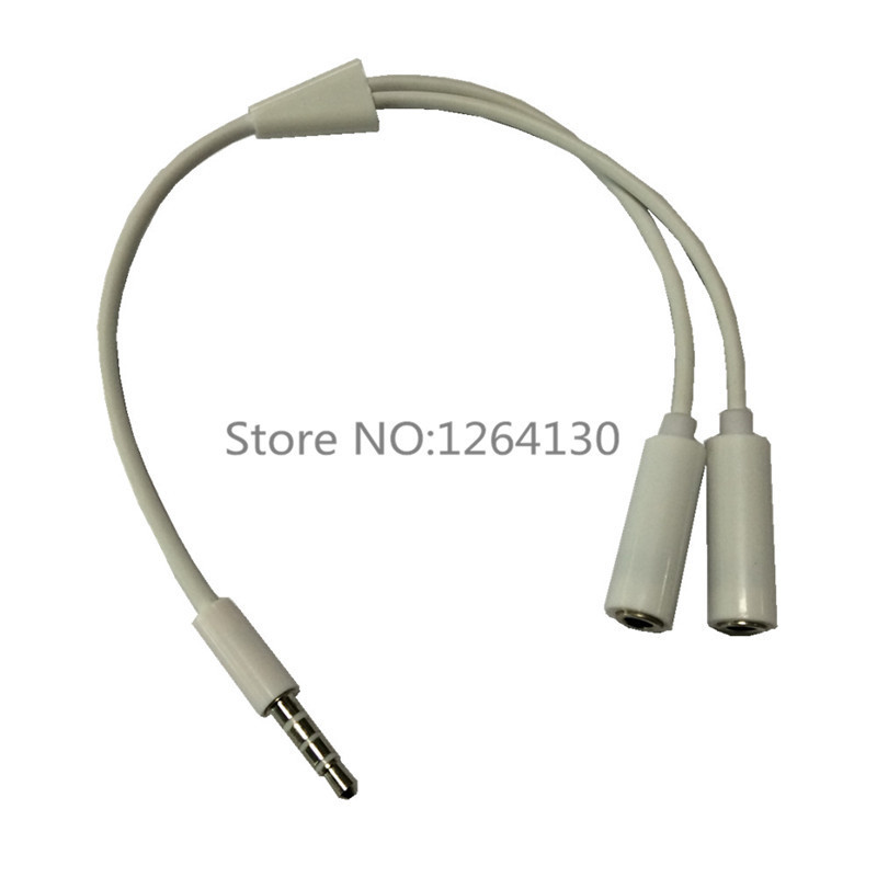 Gratis Verzending Oortelefoon Goddelijke Kabel 1 2 Audio Aparte Gebruik 2 Oortelefoon Earpod Headset In Een Apparaat Telefoon Mp3, Computer Laptop