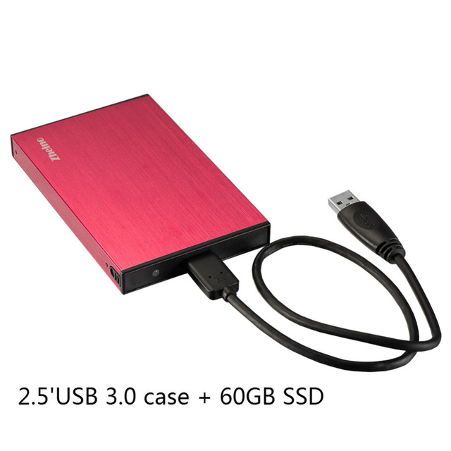 Zheino P2 60 ГБ USB3.0 Внешний Алюминиевый Корпус Super Speed 2.5 SATA Solid State Drive Замена Внешний Жесткий Диск диск