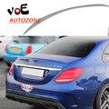 2015 2016 W205 C63 Estilo Plástico ABS Unpainted Rear Asa Spoiler para Mercedes-Benz c180 W205 C-classe c200 c220 c250 c300