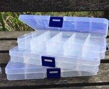 3X15 Отсек органайзер для хранения пластиковая коробка Ремесло ткацкий станок Nail Art бусы