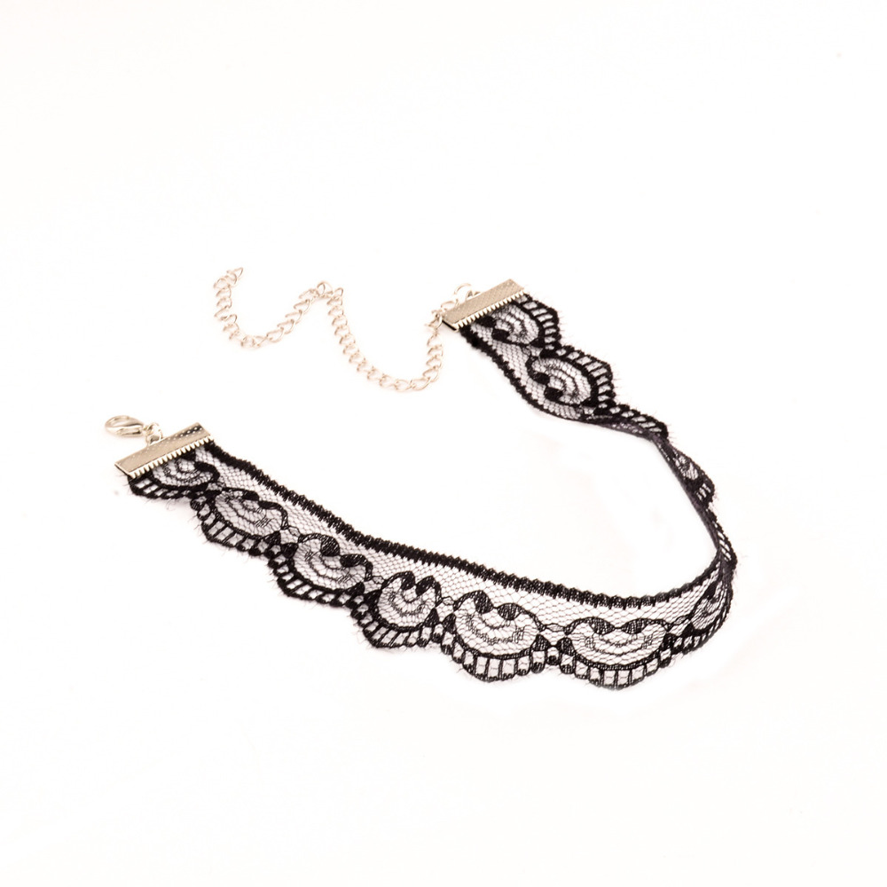 Vintage Lace Crochet Choker Collar Retro Gothic Charm Necklace Jewelry
