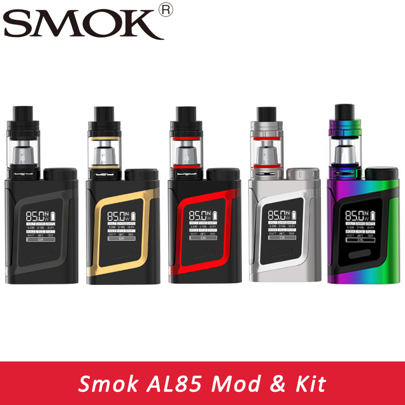 Electronic Cigarette SMOK Alien AL85 Kit with Smok TFV8 Baby TanK 3ml 85W Vape AL85 MOD vs Eleaf istick Pico Kit Alien mod original eleaf istick pico 25 mod 85w pico mod 25mm diameter electronic cigarette vape mod match eleaf melo 3 tank tc box mod
