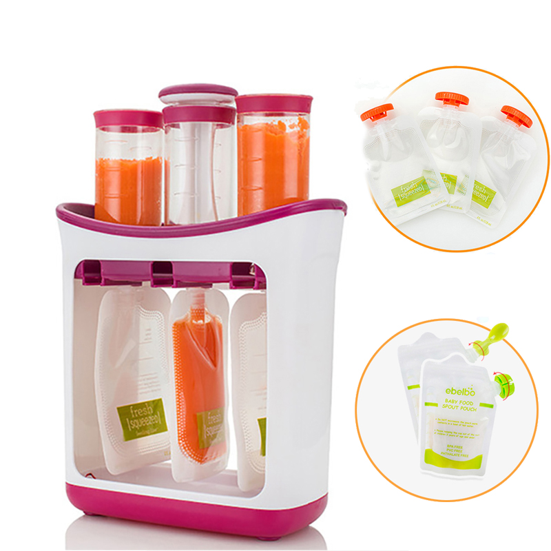 Baby Food Containers Baby Food Maker Child Fresh Fruit Juice Distributor Infant Strawberry Storage Newborn Feeding