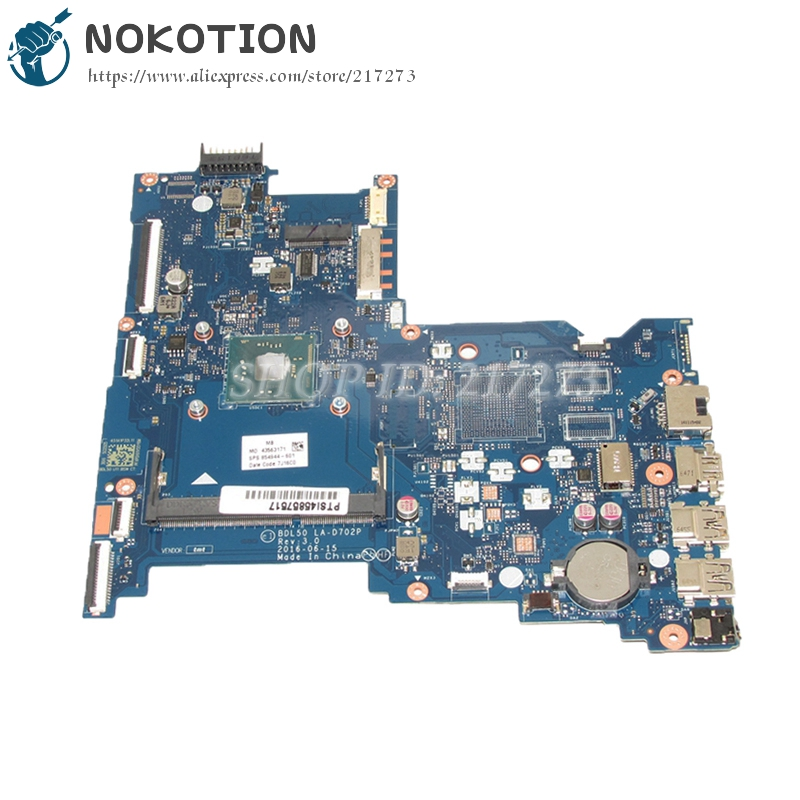 NOKOTION BDL50 LA-D702P 854944-601 854944-001 Main Board For HP 250 G5 Laptop Motherboard with cpu onboard 744008 001 744008 601 744008 501 for hp laptop motherboard 640 g1 650 g1 motherboard 100% tested 60 days warranty